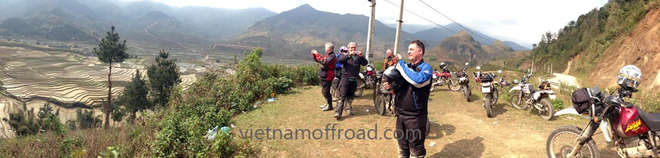 Based in Hanoi, Vietnam Offroad offers Vietnam motorcycle tours, Vietnam off-road motorbike tours, Vietnam scooter adventures and rentals. All motorbike tours start from Hanoi. This photo was taken on the road by customers and guides.